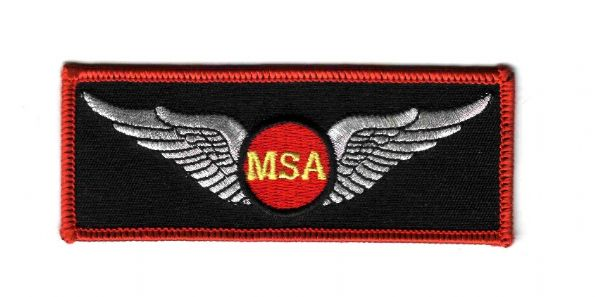 WINGS LOGO CLOTH BADGE FOR PILOTS, EMBROIDERED WITH HIGH QUALITY MATERIALS AND DETAILS, LONG LASTING